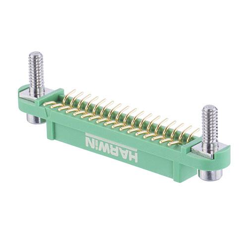 G125-FS13405F3R - 17+17 Pos. Female DIL Vertical SMT Conn. Screw-Lok Reverse Fix Board Mount (T+R)