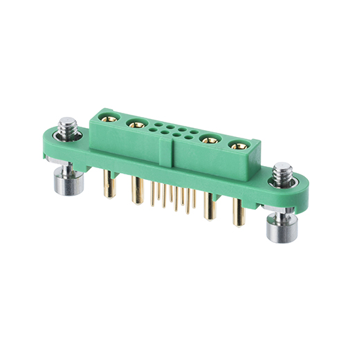 G125-FV10805F1-2AB2ABP - 8+4 Pos. Female Vertical Throughboard Conn. Screw-Lok