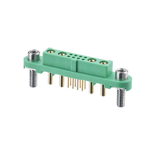 G125-FV10805F3-2AB2ABP - 8+4 Pos. Female Vertical Throughboard Conn. Screw-Lok Reverse Fix