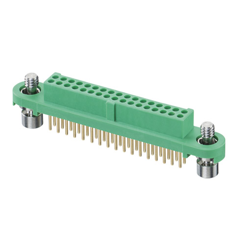 G125-FV13405F1P - 17+17 Pos. Female DIL Vertical Throughboard Conn. Screw-Lok