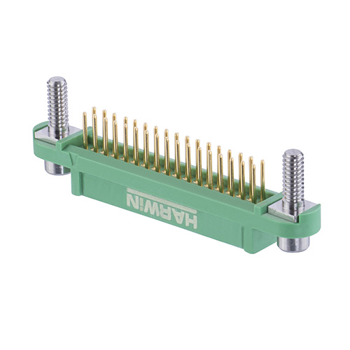 G125-FV13405F3P - 17+17 Pos. Female DIL Vertical Throughboard Conn. Screw-Lok Reverse Fix Board Mount