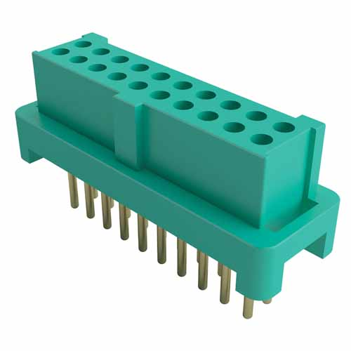 G125-FV22605L0P - 13+13 Pos. Female DIL Vertical Throughboard Conn. for Latches