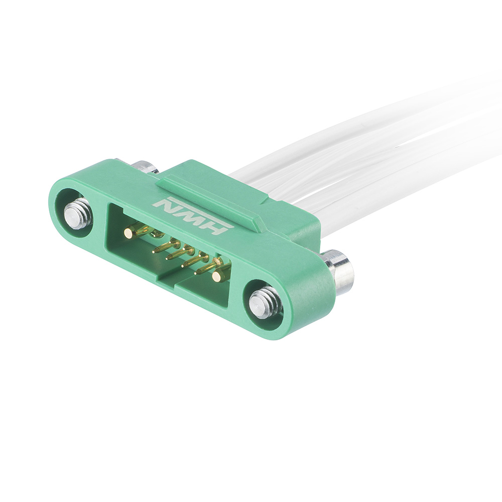 G125-MC108M3-1D1D-XXXXL - 8+2 Pos. Male 26AWG+18AWG Cable Assembly, single-end, Screw-Lok Reverse Fix