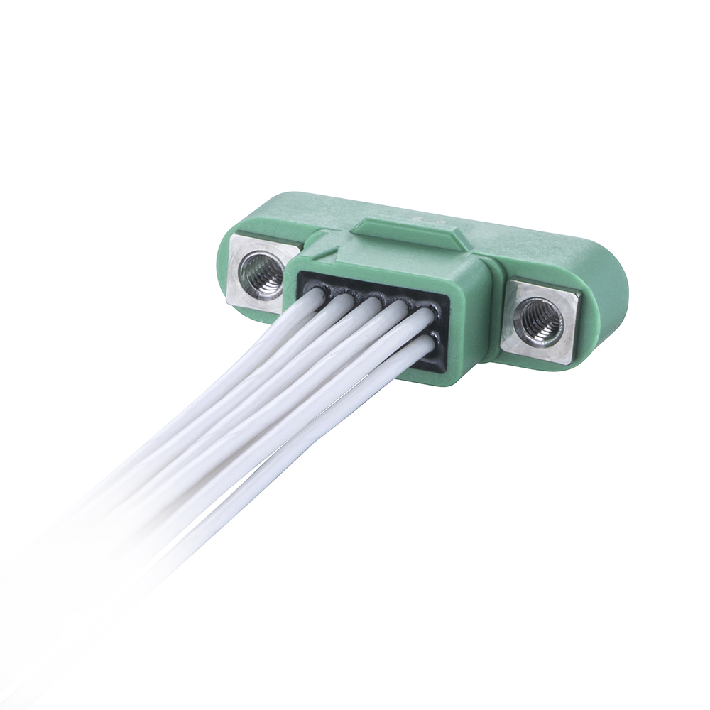 G125-MC20668M1-XXXXL - 3+3 Pos. Male DIL 28AWG Cable Assembly, single-end, Screw-Lok