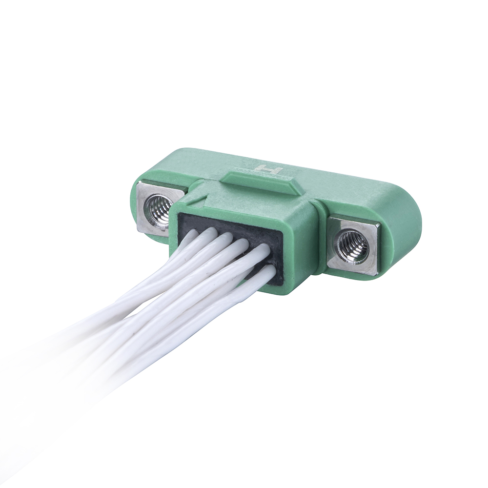G125-MC11005M1-XXXXL - 5+5 Pos. Male DIL 26AWG Cable Assembly, single-end, Screw-Lok