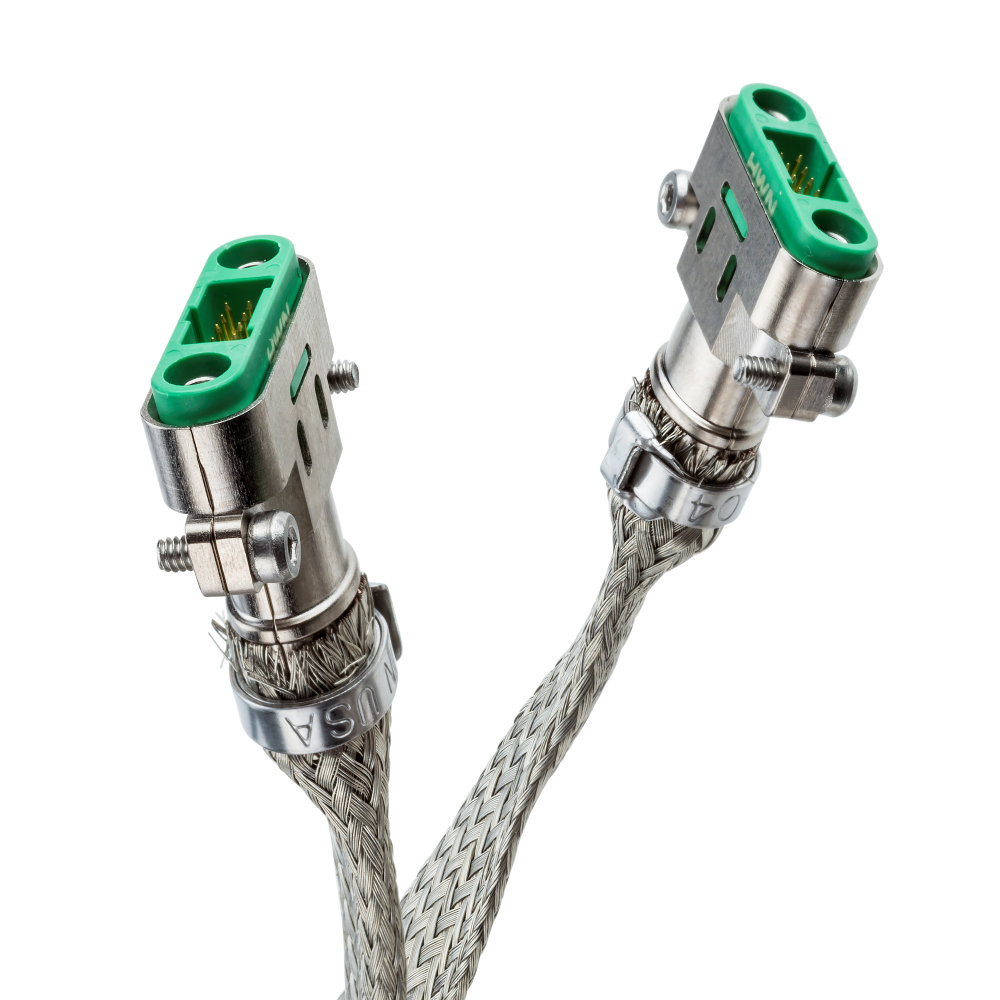 G125-MD12069M3-XXXXM3 - 10+10 Pos. Male DIL 26AWG Cable Assembly, twisted pair double-end shielded, Screw-Lok Reverse Fix