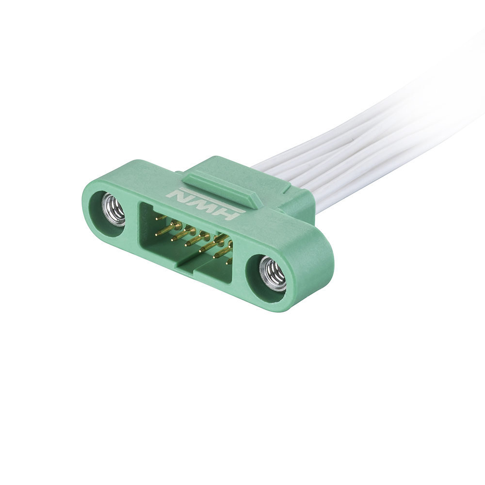 G125-MC11268M1-XXXXL - 6+6 Pos. Male DIL 26AWG Cable Assembly, single-end, Screw-Lok