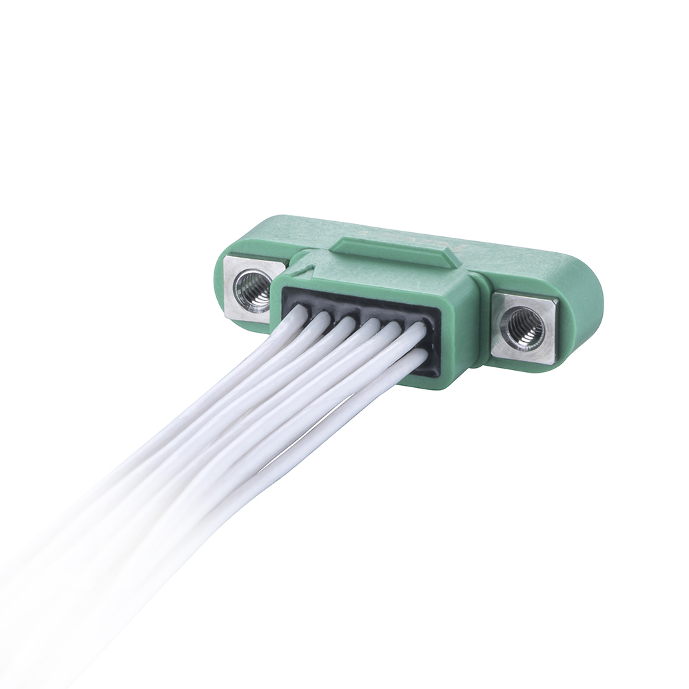 G125-MC21268M1-XXXXL - 6+6 Pos. Male DIL 28AWG Cable Assembly, single-end, Screw-Lok