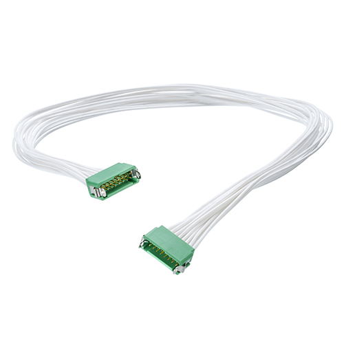 G125-MC13405L4-0300M - 17+17 Pos. Male DIL 26AWG Cable Assembly, 300mm, double-end, Latches