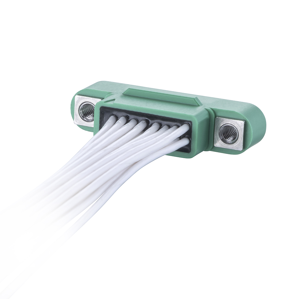 G125-MC12605M1-0300F1 - 13+13 Pos. Male DIL 26AWG Cable Assembly, 300mm, Female 2nd end, Screw-Lok