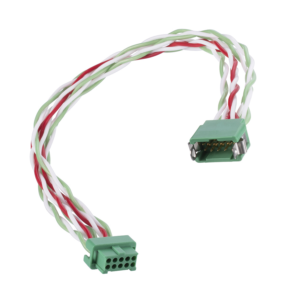G125-MD12605L4-XXXXF - 13+13 Pos. Male DIL 26AWG Cable Assembly, twisted pair Female 2nd end, Latches
