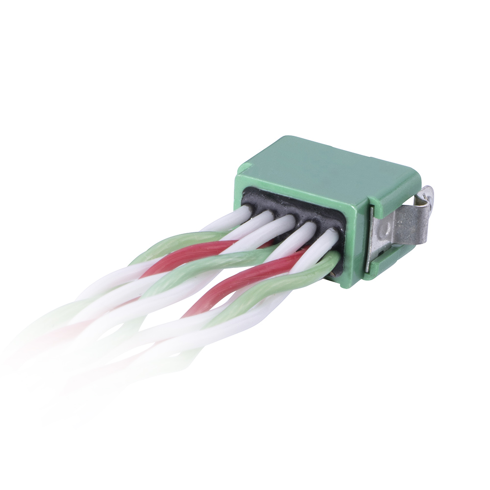 G125-MD21005L4-XXXXL - 5+5 Pos. Male DIL 28AWG Cable Assembly, twisted pair single-end, Latches