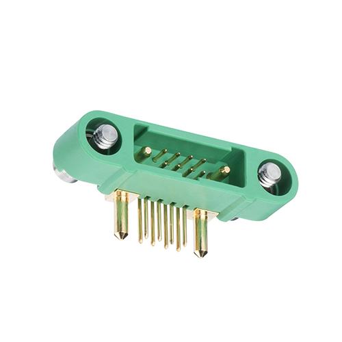 G125-MH10805M3-1AD1ADP - 8+2 Pos. Male Horizontal Throughboard Conn. Screw-Lok Reverse Fix
