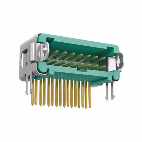 G125-MH11605L1P - 8+8 Pos. Male DIL Horizontal Throughboard Conn. Latches