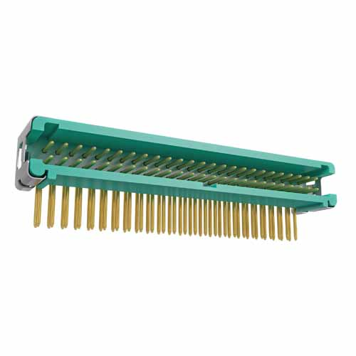 G125-MH15005L7P - 25+25 Pos. Male DIL Horizontal Throughboard Conn. no Latches