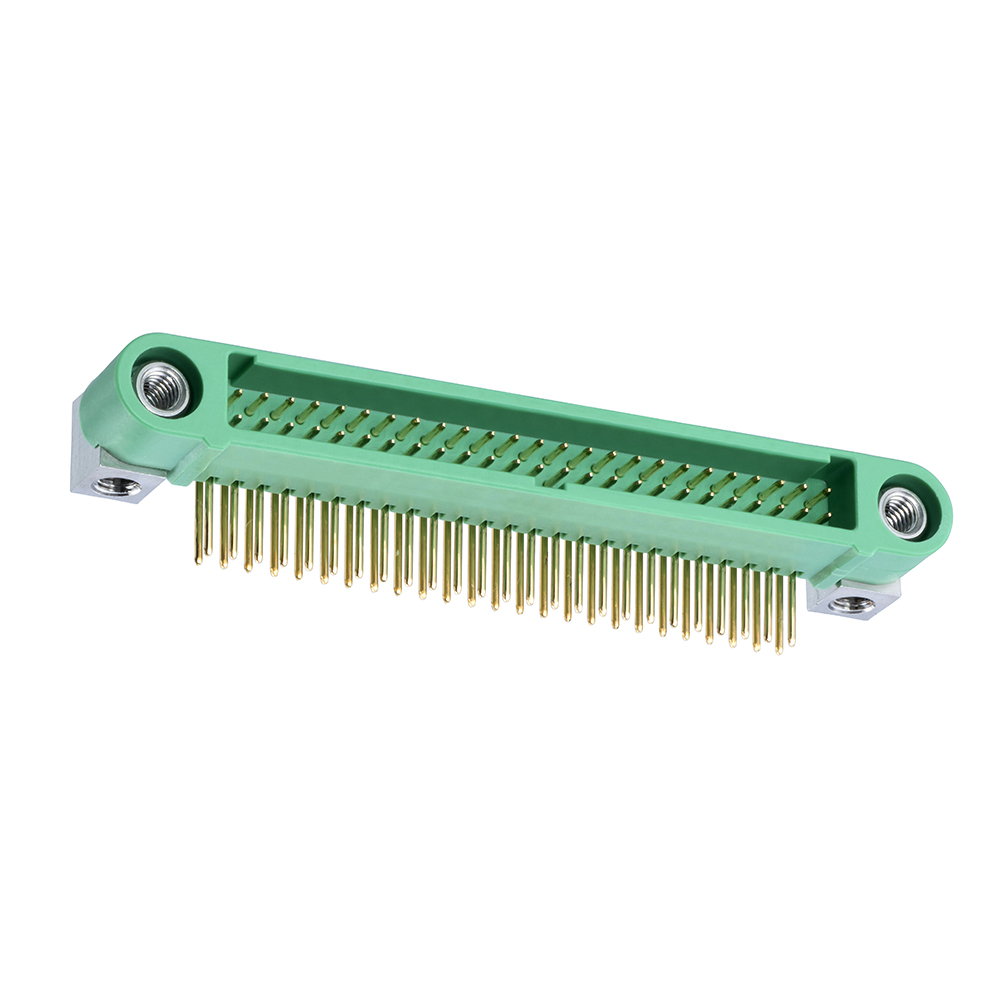 G125-MH15005M4P - 25+25 Pos. Male DIL Horizontal Throughboard Conn. Screw-Lok Board Mount