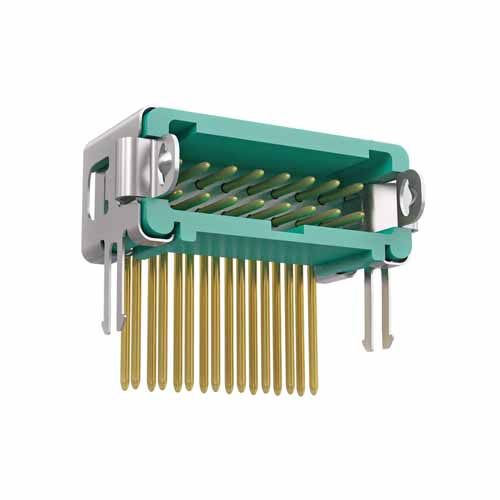 G125-MH21605L2P - 8+8 Pos. Male DIL Horizontal Throughboard Conn. Latches