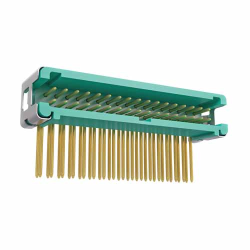 G125-MH23405L7P - 17+17 Pos. Male DIL Horizontal Throughboard Conn. no Latches