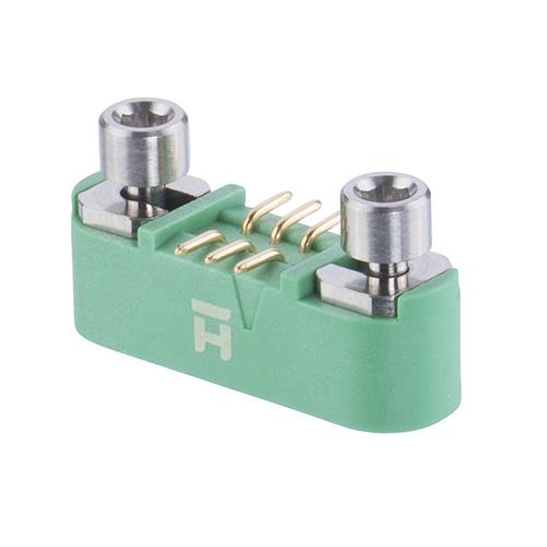 G125-MS10605M3R - 3+3 Pos. Male DIL Vertical SMT Conn. Screw-Lok Reverse Fix (T+R)