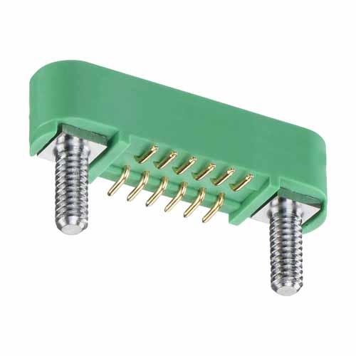 G125-MS11205M2P - 6+6 Pos. Male DIL Vertical SMT Conn. Screw-Lok Board Mount