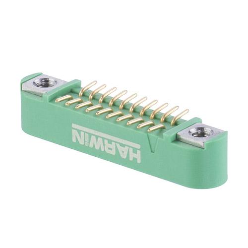 G125-MS12005M1R - 10+10 Pos. Male DIL Vertical SMT Conn. Screw-Lok (T+R)