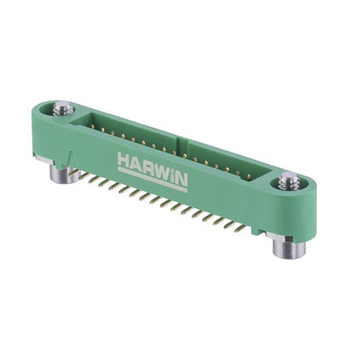 G125-MS13405M3P - 17+17 Pos. Male DIL Vertical SMT Conn. Screw-Lok Reverse Fix