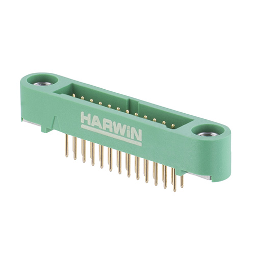 G125-MV12605M1P - 13+13 Pos. Male DIL Vertical Throughboard Conn. Screw-Lok