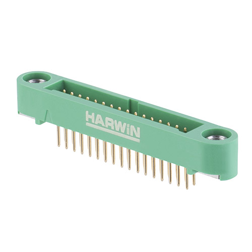 G125-MV13405M1P - 17+17 Pos. Male DIL Vertical Throughboard Conn. Screw-Lok