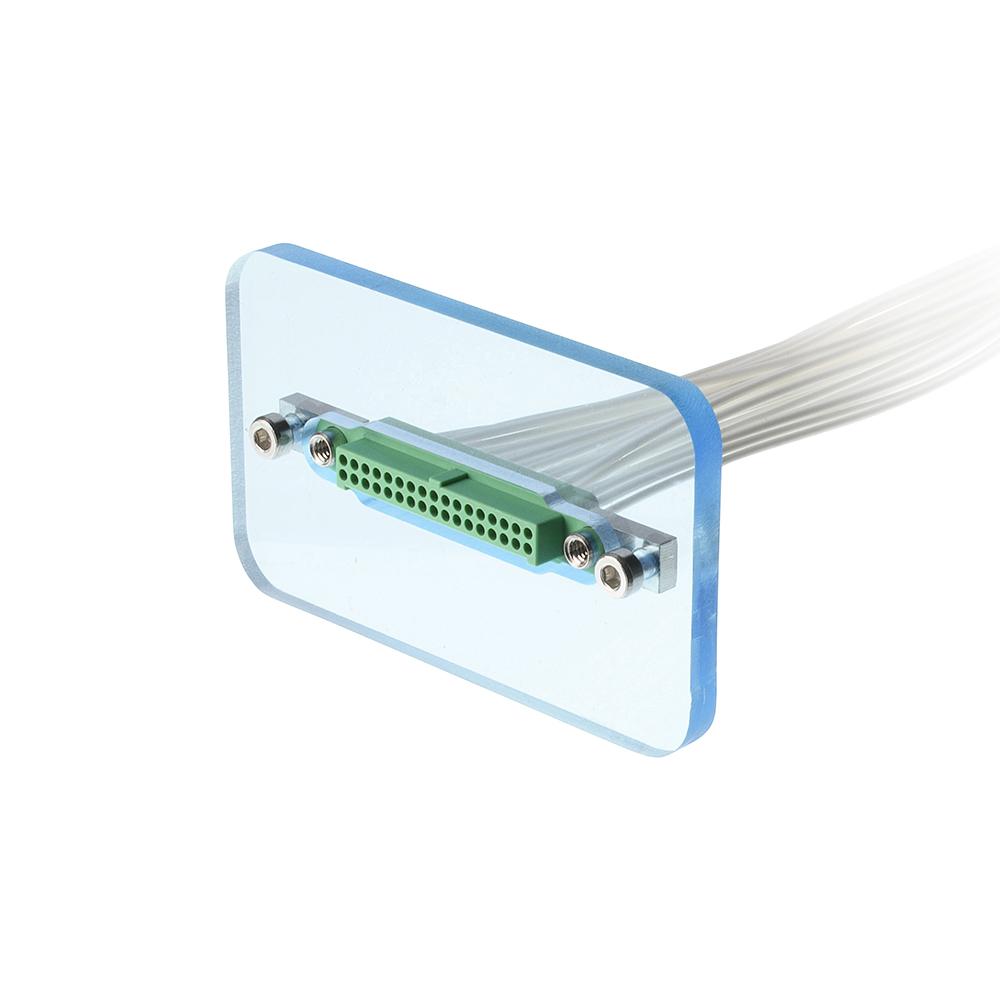 G125-2242096F5 - 10+10 Pos. Female DIL Cable Housing, Screw-Lok Reverse Fix Panel Mount