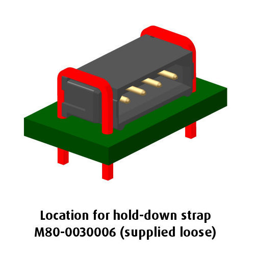 B5743-105-M-L-0 - 5 Pos. Male SIL Horizontal Throughboard Conn. No Latches (BS Release)