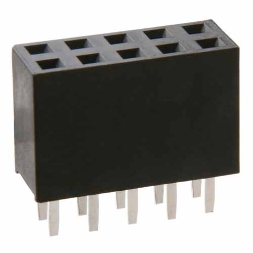 M20-7830546 - 5+5 Pos. Female DIL Vertical Throughboard Conn.