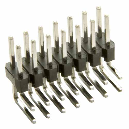 M20-9741042 - 10+10 Pos. Male DIL Horizontal Throughboard Conn.