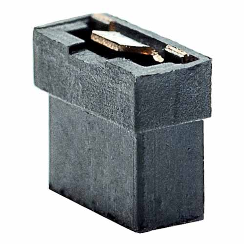 M22-1900046 - 2 Pos. Female Jumper Socket, Open Shunt, Black