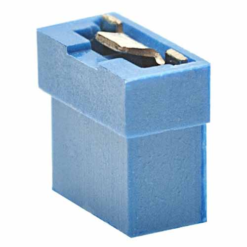 M22-1910005 - 2 Pos. Female Jumper Socket, Open Shunt, Blue