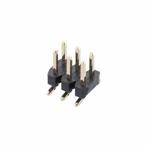 M22-5300305R - 3+3 Pos. Male DIL Vertical SMT Conn. (T+R)