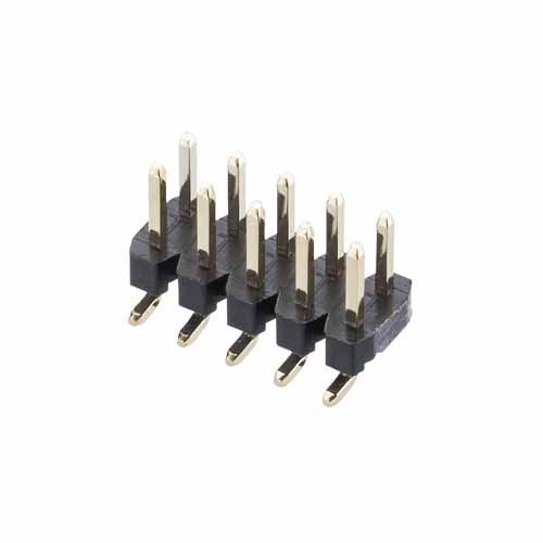 M22-5300505R - 5+5 Pos. Male DIL Vertical SMT Conn. (T+R)
