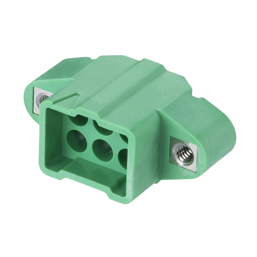 M300-3240696M1 - 3+3 Pos. Male DIL Cable Housing, Jackscrews