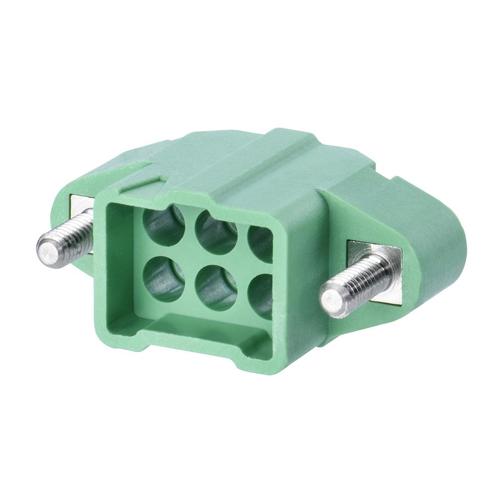 M300-3240696M2 - 3+3 Pos. Male DIL Cable Housing, Jackscrews
