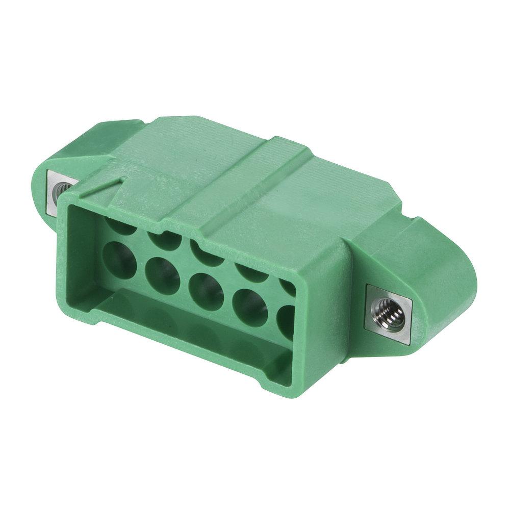M300-3241096M1 - 5+5 Pos. Male DIL Cable Housing, Jackscrews