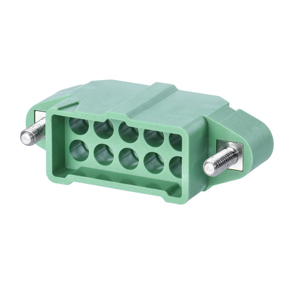 M300-3241096M2 - 5+5 Pos. Male DIL Cable Housing, Jackscrews
