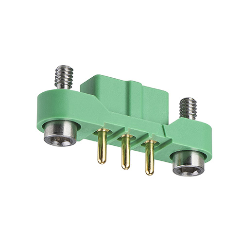 M300-FV10345F2 - 3 Pos. Female SIL Vertical Throughboard Conn. Jackscrews