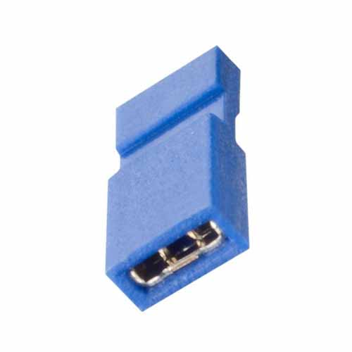 M50-2030005 - 2 Pos. Female Jumper Socket, Handle Shunt, Blue