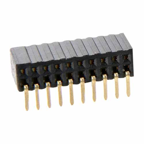M50-3201045 - 10+10 Pos. Female DIL Horizontal Throughboard Conn.