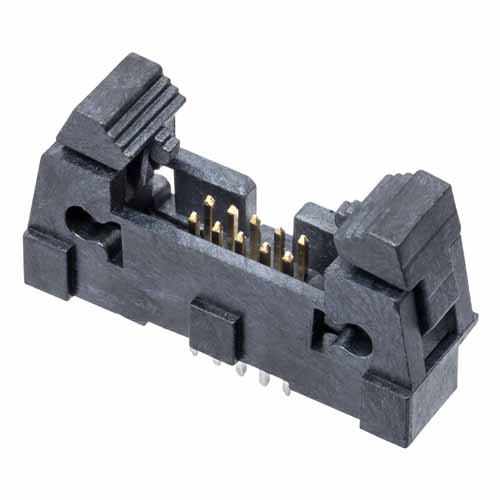 M50-3550542 - 5+5 Pos. Male DIL Vertical Throughboard Conn. with Ejector