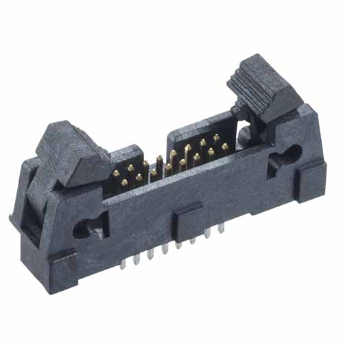 M50-3550842 - 8+8 Pos. Male DIL Vertical Throughboard Conn. with Ejector