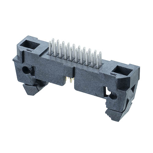M50-3551042 - 10+10 Pos. Male DIL Vertical Throughboard Conn. with Ejector