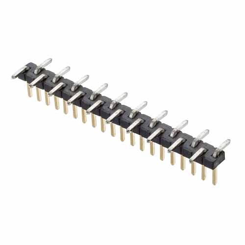 M50-3632042R - 20 Pos. Male SIL Vertical SMT Conn. (T+R)