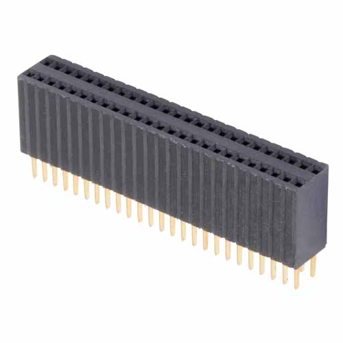 M52-5112345 - 23+23 Pos. Female DIL Vertical Throughboard Conn.