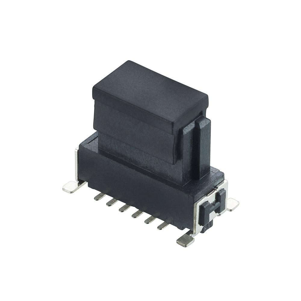 M55-6011242R - 6+6 Pos. Female DIL Vertical SMT Conn. (T+R)