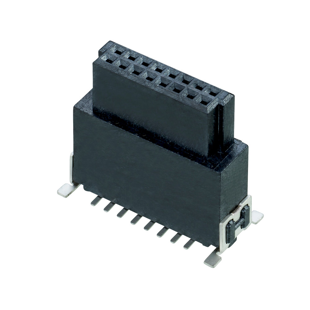 M55-6021642R - 8+8 Pos. Female DIL Vertical SMT Conn. (T+R)